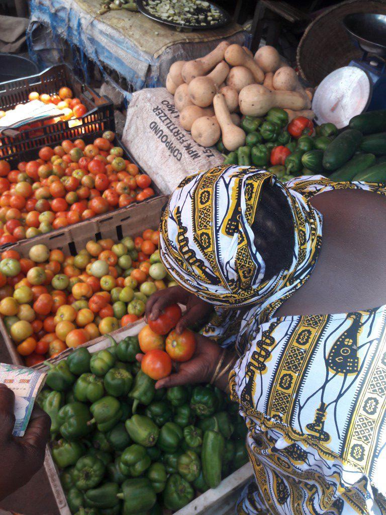 tomaten en paprika's in het klein