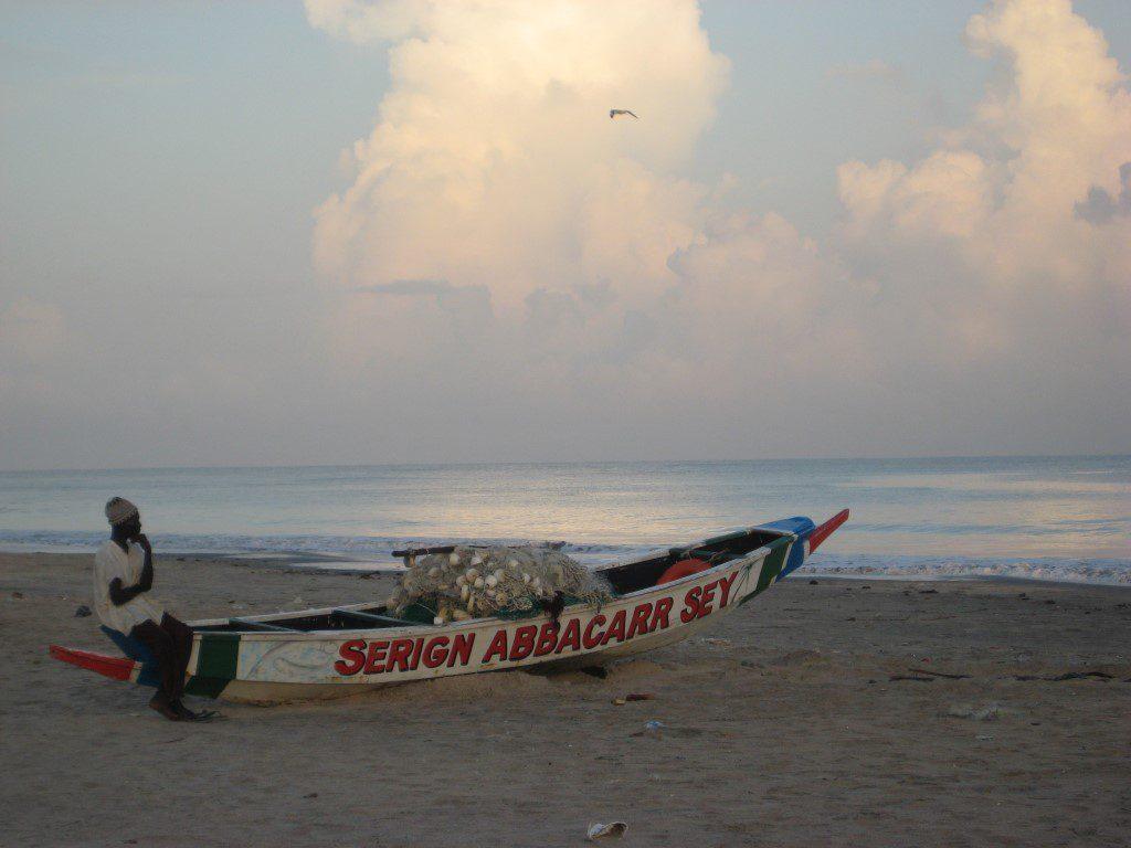 Traditionele vissers boot