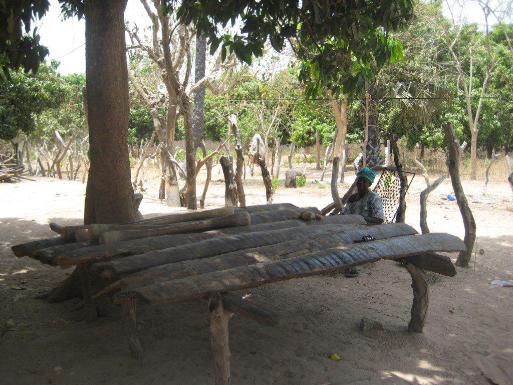 Traditioneel zitplek voor dorpsoudsten